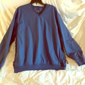 Izod Pull Over Men's Jacket in Royal. Size XL